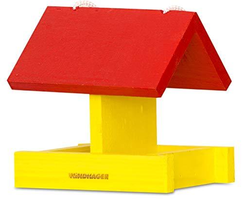 Windhager Vogelhaus Sparrow, Vogel-Silo, Futterhaus für Vögel, Vogelhäuschen, gelb, 06993