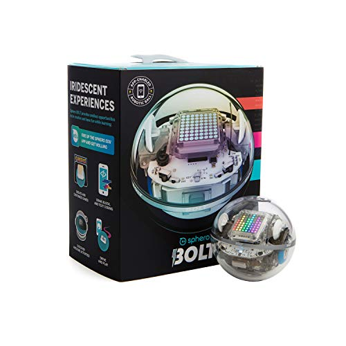 Sphero Bolt - Sfera Robot Educational di Avanzata Tecnologia, Schermo LED Programmabile, Portata Bluetooth Fino a 30 metri, Compatibile iOS/Android e Kindle Store