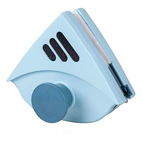 Ouumeis Limpiador De Ventanas Ventana De Doble Cara, Herramientas De Limpieza Magnéticas, Se Adapta A Doble Acristalamiento De 4-25 Mm, Cuerda Anticaída, Magnético Fuerte,Light Blue