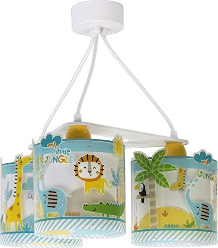 Dalber kinderlamp, 3 lampen, My Little Animales jungle, 60 W, meerkleurig