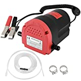 HONGNAL 80w Oil Change Pump Extractor Electric 12v for Boat/Car/Lawn Mower 12V Oil Extractor Pump Marine for Changing Diesel Fluid Scavenge Suction Oil Transfer Pump Kits for Jet Ski, Truck, RV, ATV