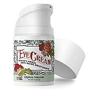 #LightningDeal Eye Cream - Eye Cream for Dark Circles and Puffiness, Under Eye Cream, Anti Aging Eye Cream Reduce Fine Lines and Wrinkles, Rosehip and Hibiscus Botanicals - 1.7oz
