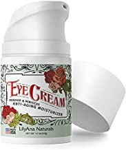 LilyAna Naturals Eye Cream - Made in USA, Eye Cream for Dark Circles and Puffiness, Under Eye Cream, Anti Aging Eye Cream Reduce Fine Lines and Wrinkles, Rosehip and Hibiscus Botanicals - 1.7oz