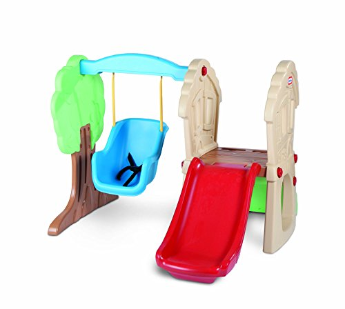 Little Tikes Hide & Seek Climber and Swing, Indoor Outdoor with Slide - Easy Set Up - Toddler Playset