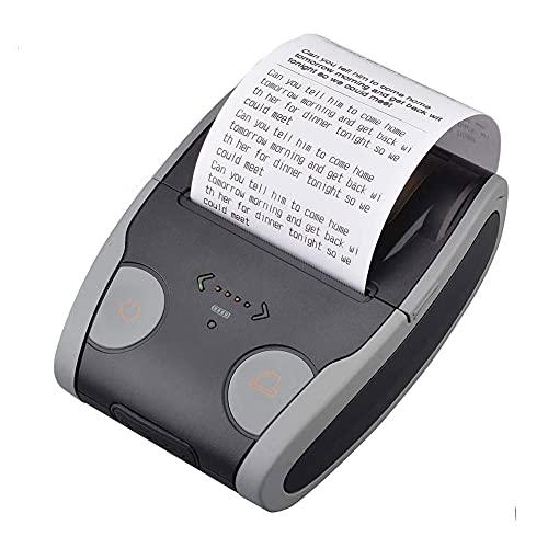 UOOD Impresoras de Recibos Bluetooth Impresora térmica inalámbrica 58mm Compatible con Android/iOS/Comandos del Sistema de Windows Establecido para Oficina y pequeñas Empresas