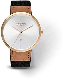 Zyros Watch for Men, Analog, Leather - ZAL017M101211