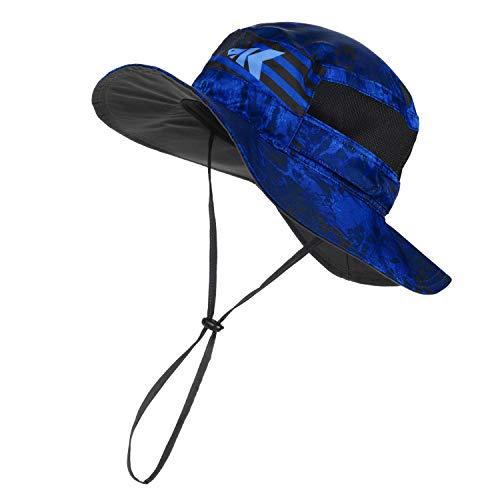 KastKing Sol Armis UPF 50 Boonie Hat - Sun Protection Hat, Fishing Hat - Breathable Fabric - Comfortable - Prym1 Camo,Blue Patriot