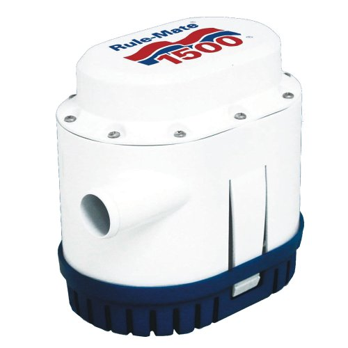 Rule-Mate RM1500A Automated Bilge Pump, No Float Switch Required, 1500 GPH, 12 Volt