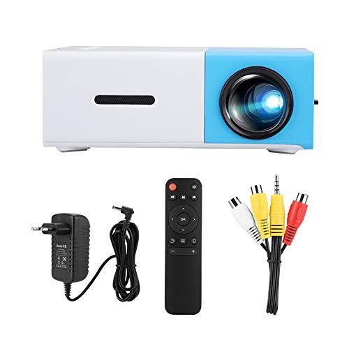 Fdit Mini proyector, proyector de Cine en casa portátil LED, proyector de Video HD 1080P para proyector de películas de Cine en casa, resolución de 1920x1080(Normativas Europeas)
