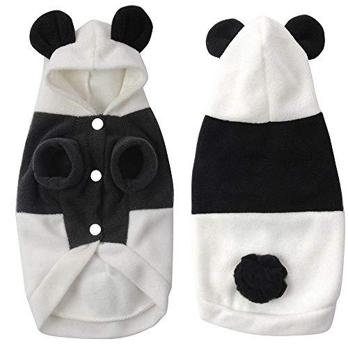 Ogquaton Haustier Panda Kostüm, lustige süße Haustier Hund Katze Kleidung Suite Outfit für Halloween Weihnachten