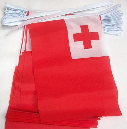 9m 32Flagge Tonga tongaische Material Wimpelkette