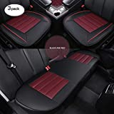 HCMAX Couverture de Siège de Voiture Coussin Tampon Tapis Protecteur pour Les Fournitures Automobiles pour Sedan Hatchback SUV - 2 + 1 Housses de Siège Avant et Housses de Siège Arrière