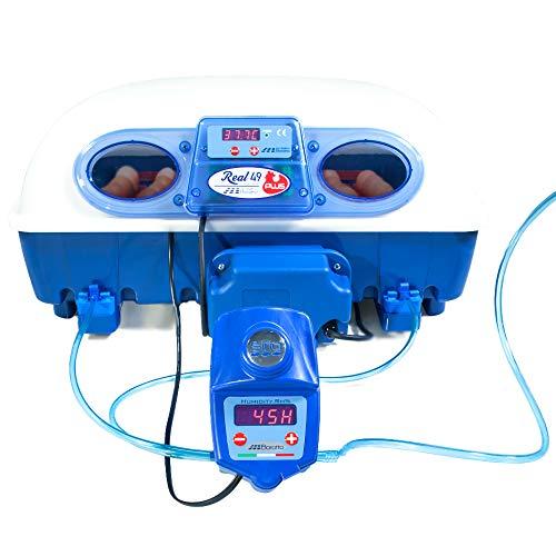 Borotto REAL 49 plus Expert - Brutmaschine mit wärmeisolierendem Material mit antibakteriellem Zusatz und automatischem Luftbefeuchter Sirio - für 49 Eier oder 196 kleine Eier