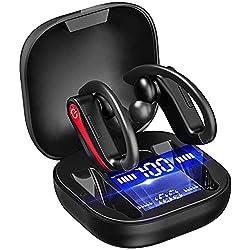 Bluetooth 5.1 et Réduction du bruit CVC 8.0: Écouteur bluetooth adoptent la version Bluetooth 5.1 pour garantir une connexion plus stable, des vitesses de transfert plus rapides vous permettent une expérience plus silencieuse et plus claire lorsque v...