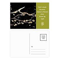 骨の小型恐竜の化石 詩のポストカードセットサンクスカード郵送側20個