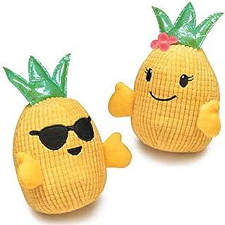 Zanies Hawaiian Breeze Pineapple Dog Toy Lot of 2