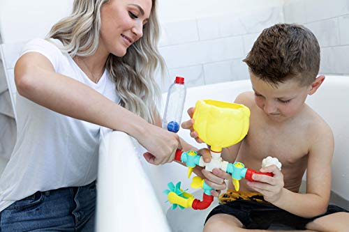 BubbleBee Bath Toys - 11 Piece Bath Toy Set, Top Selling Building STEM Toys, Toddler Bath Toys For Engaging Fun!