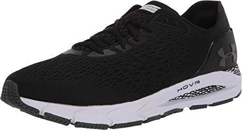 Under Armour UA HOVR Sonic 3, Baskets Respirantes avec Sensor Intégré, Chaussures de Sport pour Une Foulée Légère et Amortie Homme, Noir (Black/White/Jet Gray (001) 001), 49.5 EU