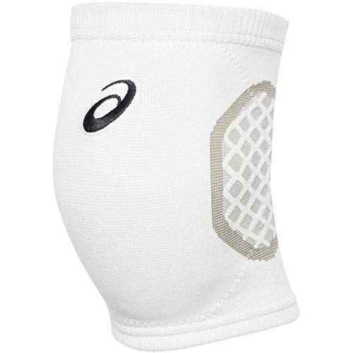 ASICS Gel-Tactic Court Volleyball Knieschoner, Unisex-Erwachsene, Gel-Tactic Court Volleyball Kneepad, Team White, Large/X-Large