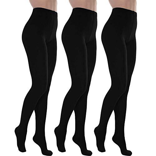 Toocool - Stock 3 pezzi calzamaglia donna calze collant termiche felpate nuove LO-SD6606 [Taglia unica,nero]