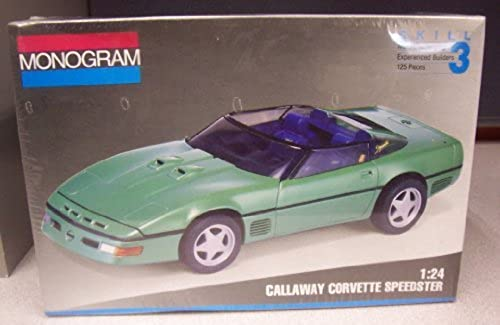 2958 Monogram Callaway Corvette Speedster 1 24 Scale Plastic Model Kit by Monogram