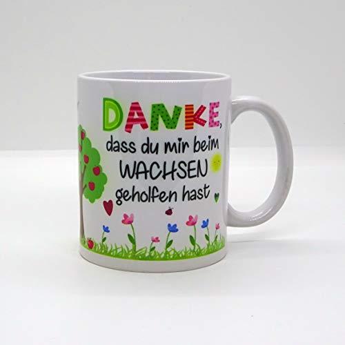 Kaffeebecher ~ Tasse - DANKE, dass du mir beim Wachsen geholfen hast ~ Kindergarten ~Weihnachten Geschenk
