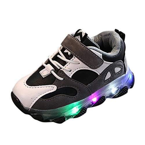 Cuteelf Kinderschuhe Jungen- und Mädchensportschuhe greifen leuchtende Schuhe der Basketballschuhe LED ineinander Kinder Baby Schuhe mit Licht LED Leuchtende Blinkende Sneaker