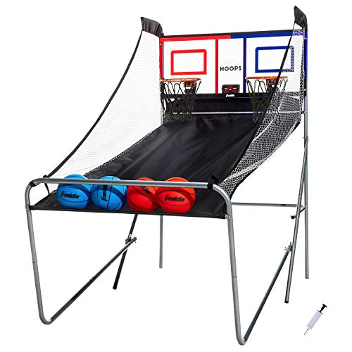 Franklin Sports Arcade Basketball - Indoor Basketball Shootout - 2 Players - Includes Electronic...
