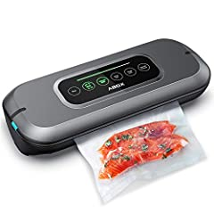 OPEN AND CLOSE AUTOMTICALLY: Without pressing the lid firmly, just hook the both side of your vacuum sealer machine to start your food preservation tour with ease and pleasure HIGH SENSITIVITY INTELLIGENT TOUCH SCREEN: Touch the model suitable for yo...