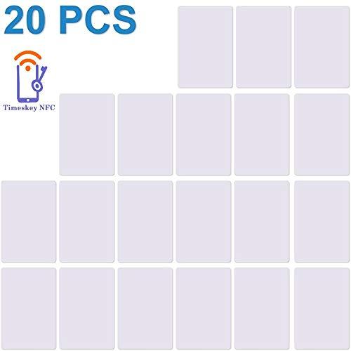 NFC NTAG215 Tarjeta Etiquetas NFC 504 Bytes Memoria NXP Ntag215 Chip de PVC Blanco Puede Hacer Que Amiibo TagMo NFC Cards -20PCS (TimesKey)