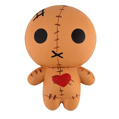 Anboor 4.7 Inches Voodoo Dolls Squishies Ghost Doll Halloween Kawaii Soft Slow Rising Scented Squishies Stress Relief Kids Toys