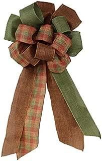 Premade Ribbon Bow (Autumn Check, 26