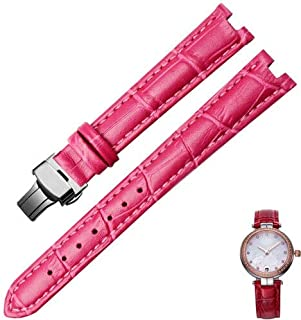 JINN - Watchbands - Female genuine leather watch strap adapts to L590GWD L586 588 replacement Fiyta watch chain concave in...
