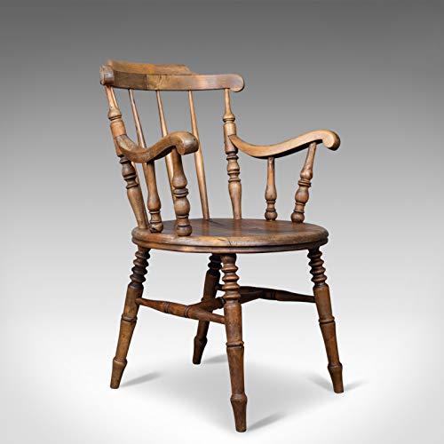Silla de codo antiguo, inglés, victoriano, cocina de campo, sillón, Circa 1900, Londres Fine Antiques