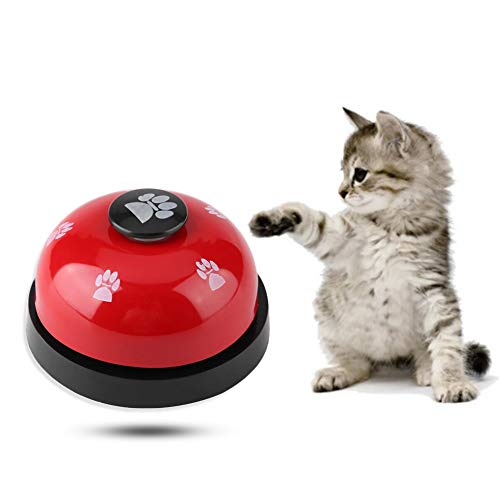 Hondendeurbel en drukker bel huisdier training pers bel ijzer stevige duurzame huisdier bel bureau bel bel bel bel voor hond toilet training bel interactie bel, Rood