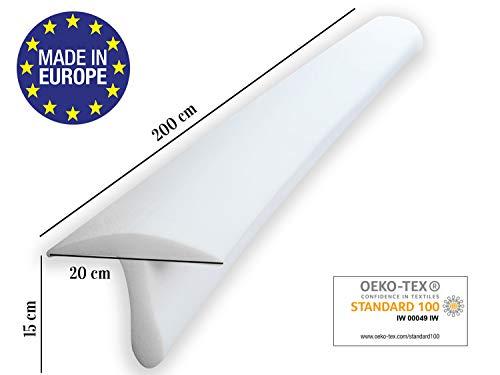 ENTSPANNO Matratzenbrücke in Weiß für Doppel-Bett | 200 x...