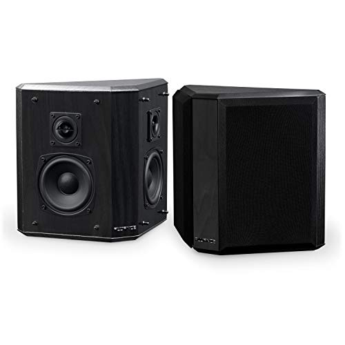 Fluance SXBP2 Home Theater Bipolar Surround Sound Satellite Speakers