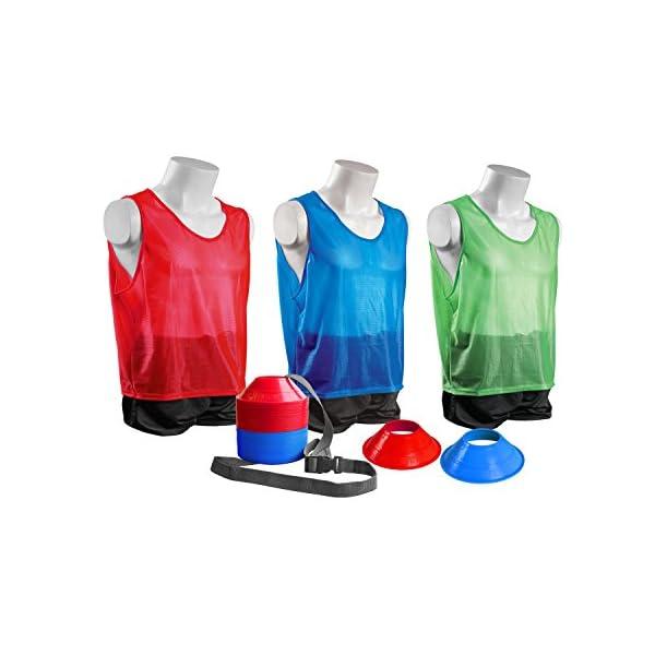 Kwik Goal Mini Cone and Vest Pack (24 Vests/50 Cones)