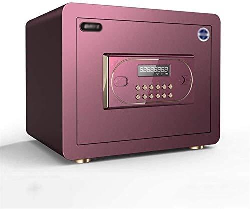 Cajas fuertes para gabinetes, caja fuerte para el hogar, caja fuerte digital electrónica grande con luz de instrucción para dinero, caja fuerte, joyería, pasaporte, seguridad (color: púrpura)