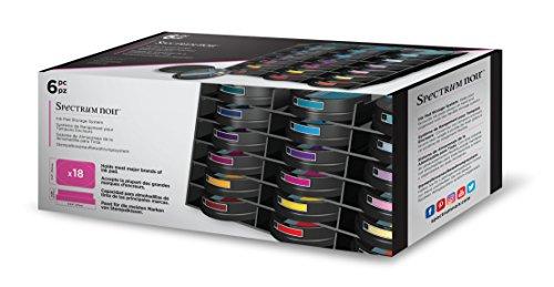 Spectrum Noir Universalfarbkissen Speichereinheit Fach Stapelbar und Anpassbare Halter und Organisator Schwarz 6er Pack