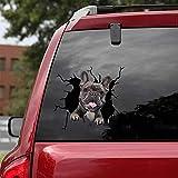 3D Hund Aufkleber schwarz - französische, Kühlschrank Frenchie Aufklebers , Bulldogge Aufkleber für Wand, 3D Stereo Hunde Auto Aufkleber Wandaufkleber Lustige Deko Styling süß Hund decal (30cm)