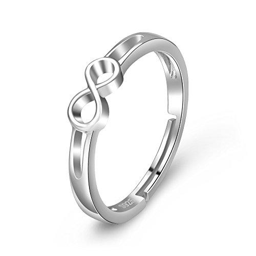 YFN 925plata ley Infinite Love simple-open ajustable