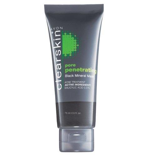commercial Avon Clearskin Pore Penetrating Black Mineral Mask 75ml 2.5 fl oz avon blackhead mask