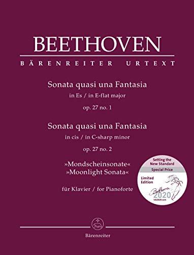 Sonata quasi una Fantasia für Klavier Es-Dur op. 27/1 / Sonata quasi una Fantasia für Klavier cis-Moll op. 27/2