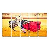 bilderfelix® Bild auf Leinwand Corrida Matador Fighting in