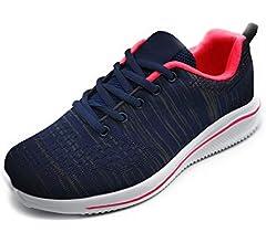 Zapatillas Deportivas Lisas Mujer Hombre Ligeras Transpirables de Malla Unisex para Correr, Caminar: Amazon.es: Zapatos y complementos