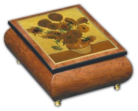 MusicBoxAttic Caja de música con diseño de Mariposas y Lazo, con Incrustaciones de Madera, más de 400 Opciones de Canciones, 159. Here Comes The Sun
