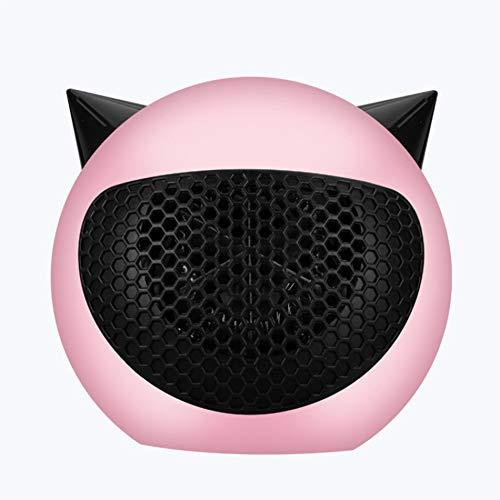 DDZHE Little Devil Heater, energiezuinige verwarming, mini-desktopverwarming voor kantoor, thuis en slaapkamer roze