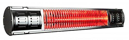 Infralogic Infrarot Heizstrahler HeizMeister mit IP 65 und 2000 Watt, Farbe:Aluminium