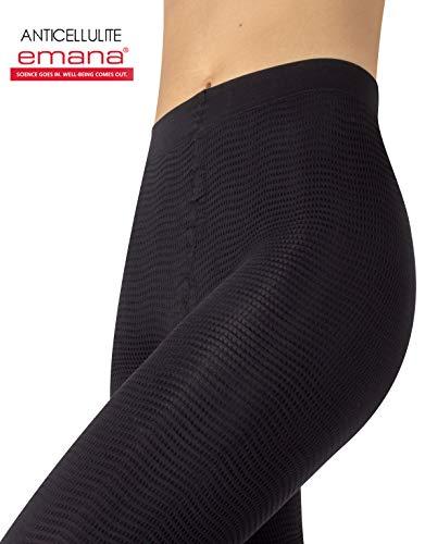 Anticellulite Pyjama | Figurformende Anti Cellulite Massage Schlafanzughose | Rosa, Schwarz | S/M, L/XL | Made in Italy (S/M, Black)
